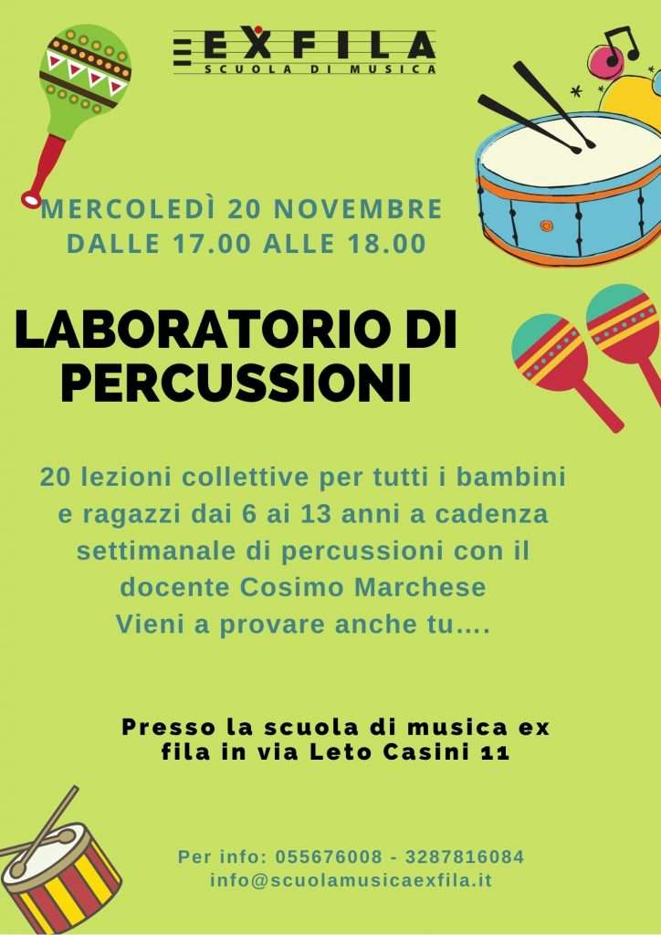 Laboratorio di percussioni